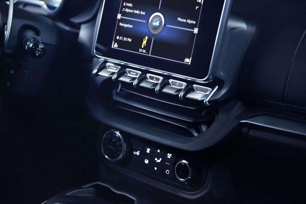 Renault Alpine A110 Bildschirm
