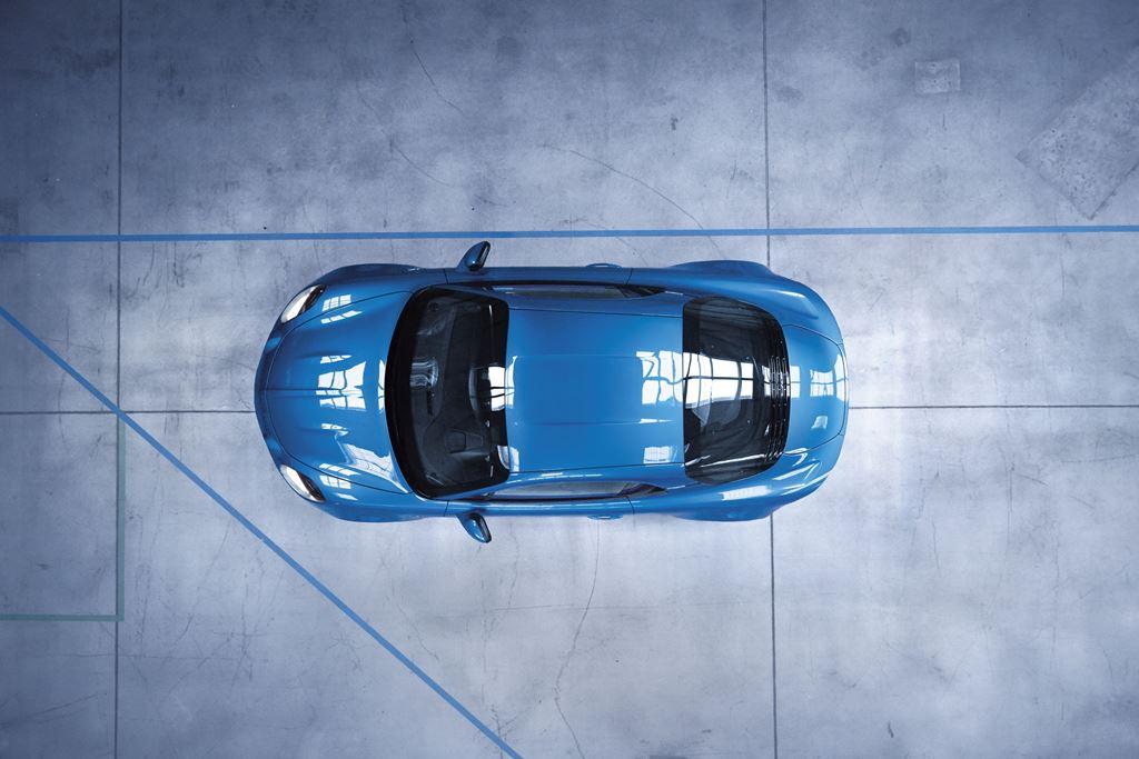 Renault Alpine A110 von oben