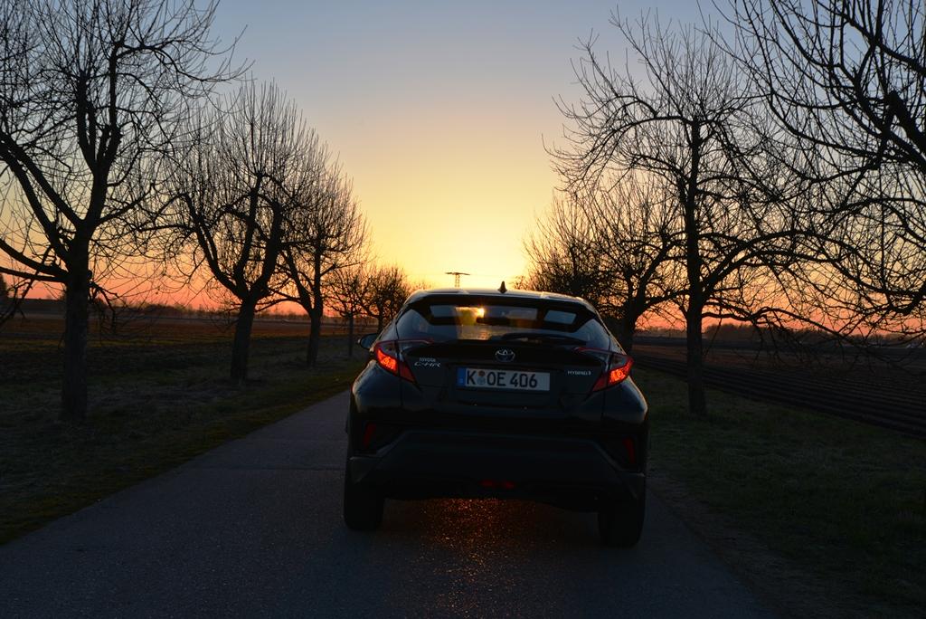 Toyota C-HR schwarz von hinten