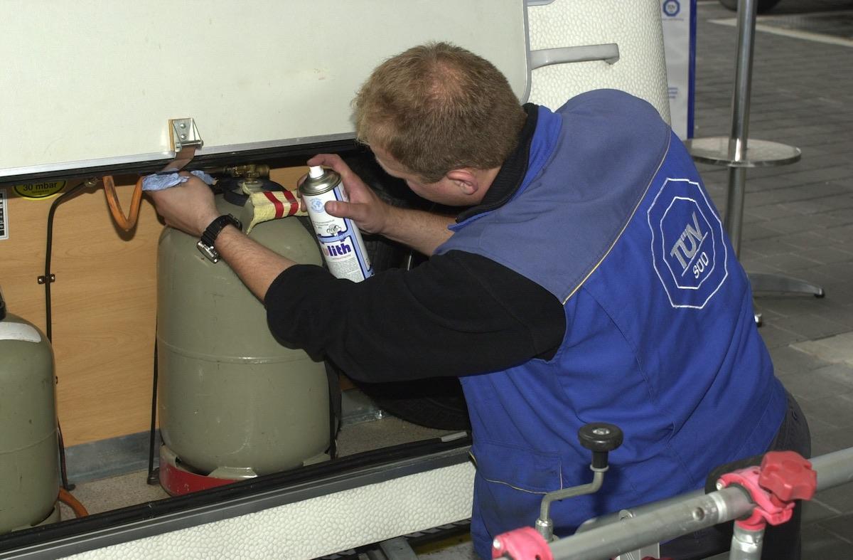 Gasanlage: Regelmäßiger Check der Anlage ist Pflicht.