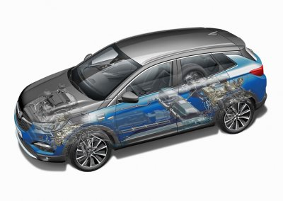 Opel Grandland X Hybrid4 Antriebssystem