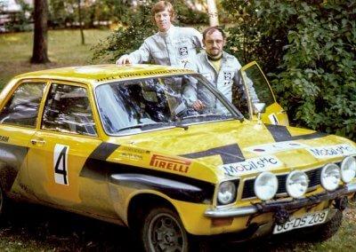 Opel Ascona A, Röhrl/Berger, Rallye-Europameister 1974