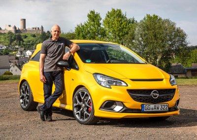 Volker Strycek with Opel Corsa GSi