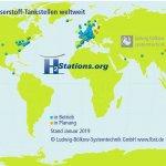 60 Wasserstofftankstellen in Deutschland