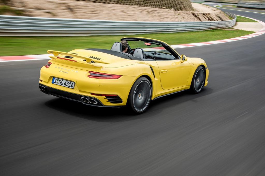 Porsche 911 Turbo Cabrio gelb