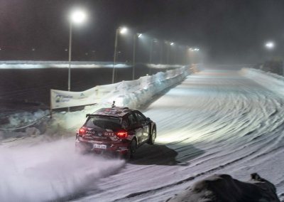 Romain Dumas driving the Volkswagen Polo GTI R5 on ice