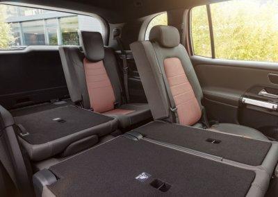 Mercedes-Benz EQB hintere Sitzreihen