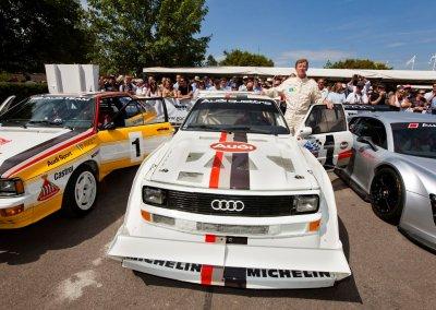"""Rallye-Weltmeister Walter Röhrl und der Audi Sport quattro S1 """"Pikes Peak"""""""