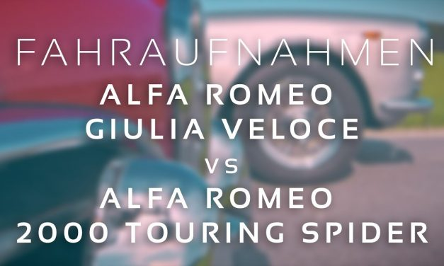 Alfa Romeo Touring Spider trifft Giulia Veloce