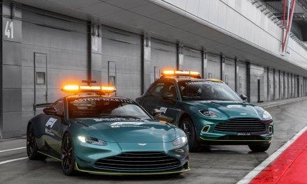 Aston Martin in der Formel 1 mit Safety und Medical Car