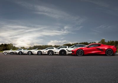 Eight generations of the Chevrolet Corvette