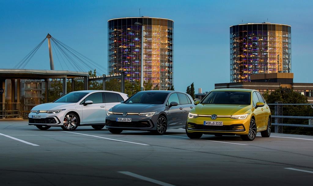 VW Golf GTE, Golf 1.5 eTSI and Golf eHybrid