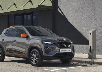Dacia Spring Electric Ladestation grau