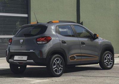 Dacia Spring Electric grau Heck rechts