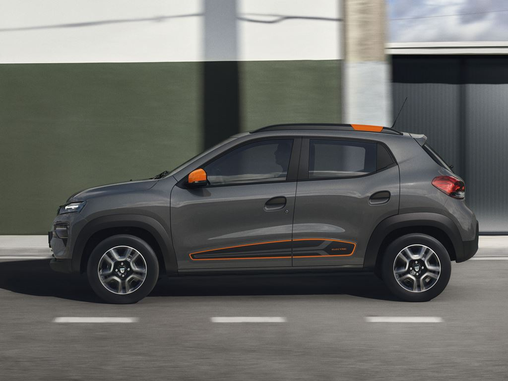 Dacia Spring Electric grau Seite