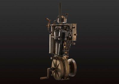 Daimler Zweizylinder-V-Motor, 1889. Studioaufnahme.