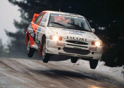 Ford Escort RS Cosworth, Schweden Rallye, 07.-10.02.1997, C. Sainz, L. Moya