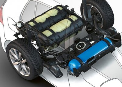 VW Golf TGI CNG Tank