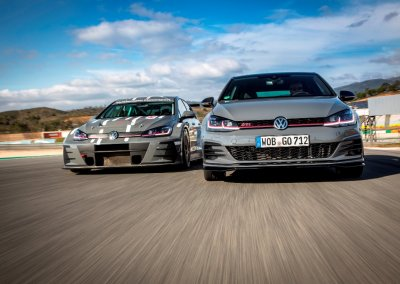 VOLKSWAGEN GOLF GTI TCR and VOLKSWAGEN GOLF GTI TCR Racecar