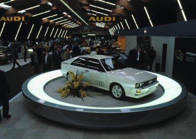 Audi quattro Genf 1980
