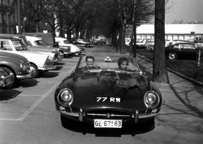 Jaguar E-Type 1961 Geneva 77RW Norman Dewis