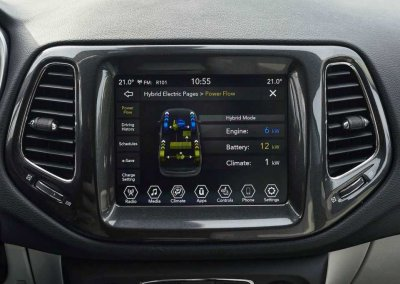 Jeep Compass 4xe Display