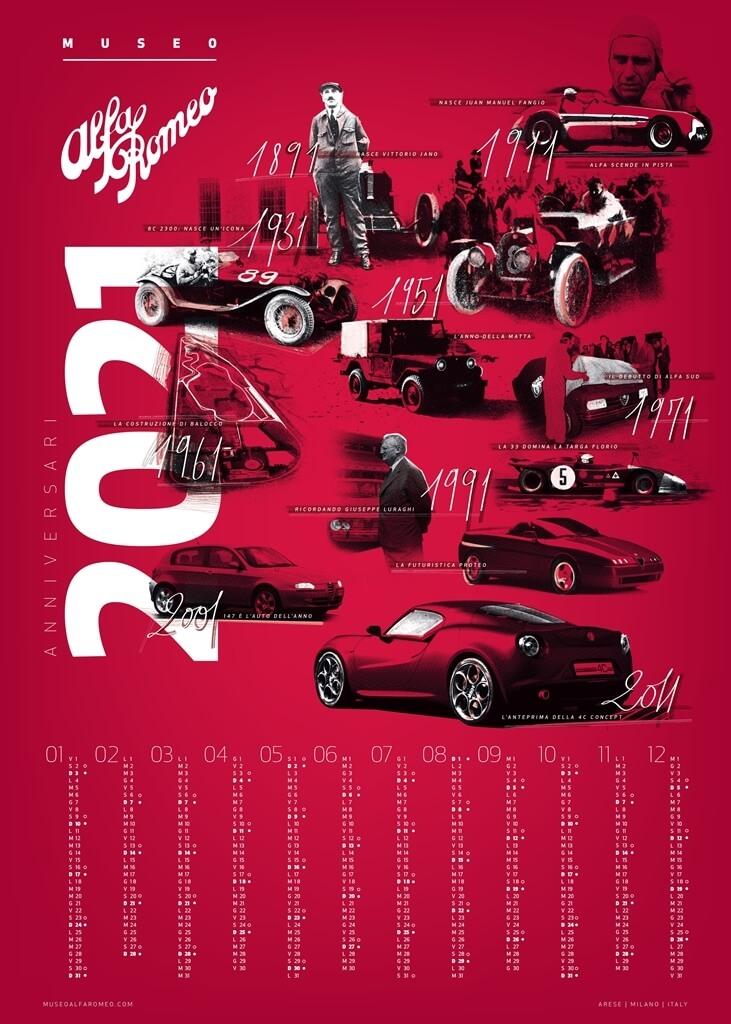 Kalender Alfa Romeo 2021