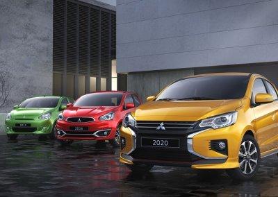 Mitsubishi Space Star Drei Generationen