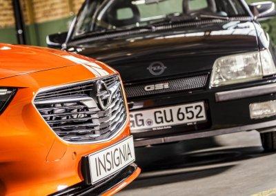 Opel Kadett E +Opel Insignia GSi Grand Sport