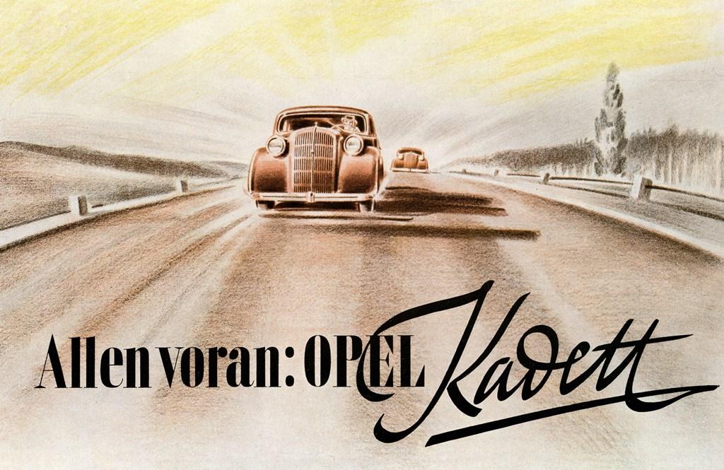 Opel Kadett Werbeplakat