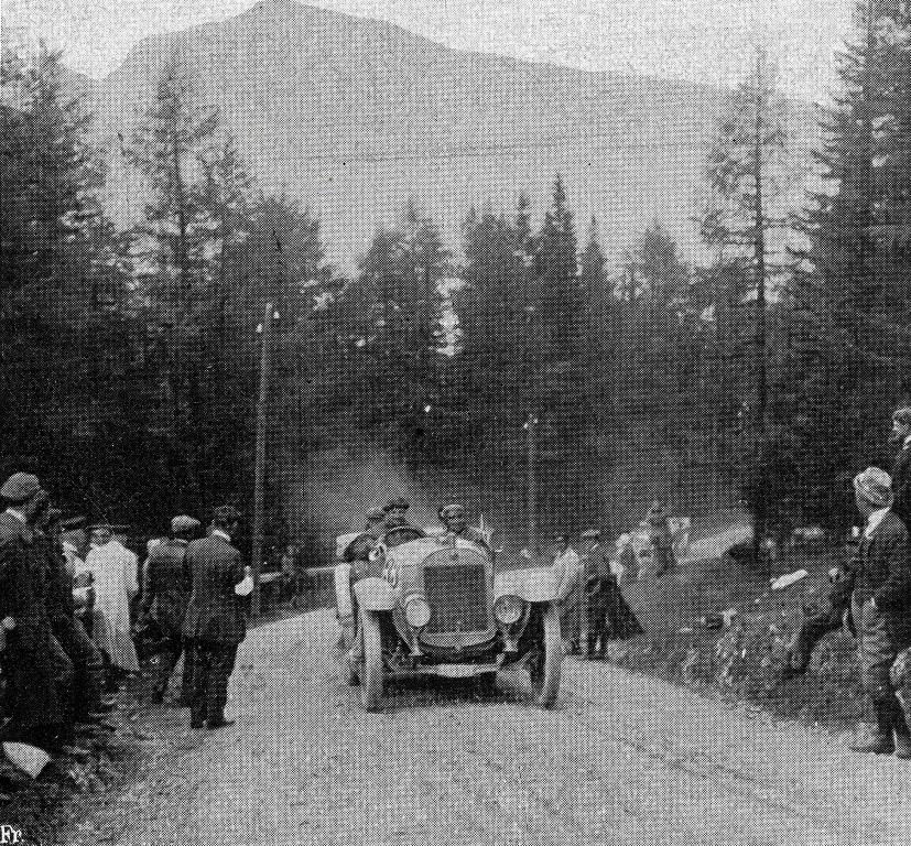 Otto Hieronimus absolvierte die 2.364 Kilometer lange Alpenfahrt 1912 ohne Strafpunkte.