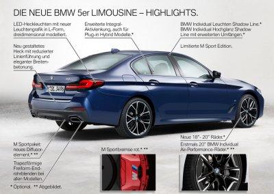 BMW 5er Reihe Limousine Highlights