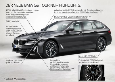 BMW 5er Reihe Touring Highlights