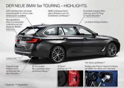 BMW 5er Reihe Touring Highlights
