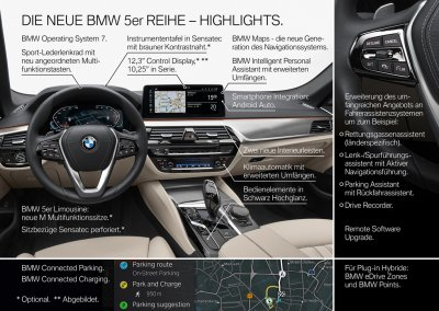 BMW 5er Reihe Interieur Highlights