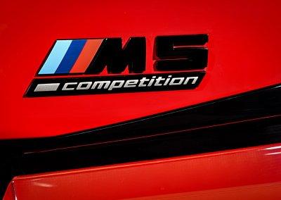 BMW M5 Competition Schriftzug
