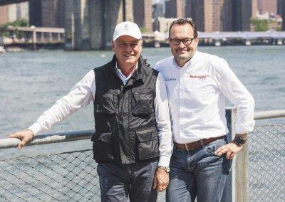 Paolo Pininfarina with Michael Perschke, Automobili Pininfarina CEO
