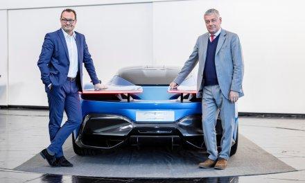 Automobili Pininfarina mit neuen Design-Skizzen des PF0