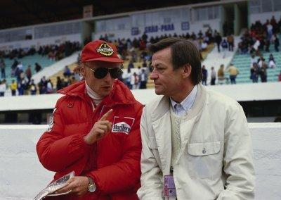 Hans Mezger mit Niki Lauda