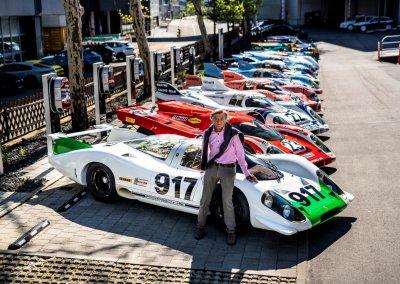 Hans Mezger am Porsche 917