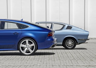 Audi S7 Sportback and Audi 100 Coupé S