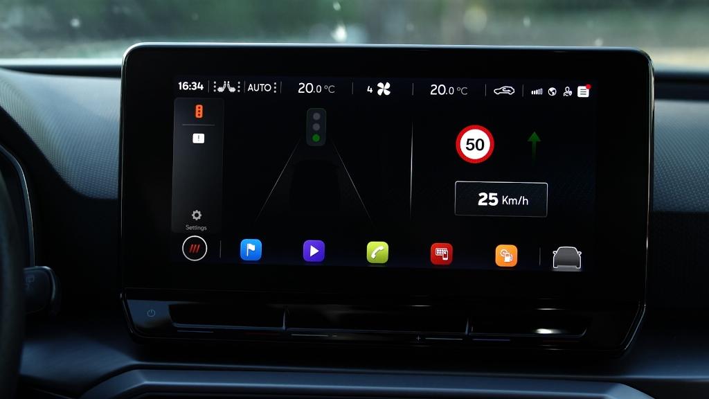 Display für die Kommunikation zwischen Auto und Ampel