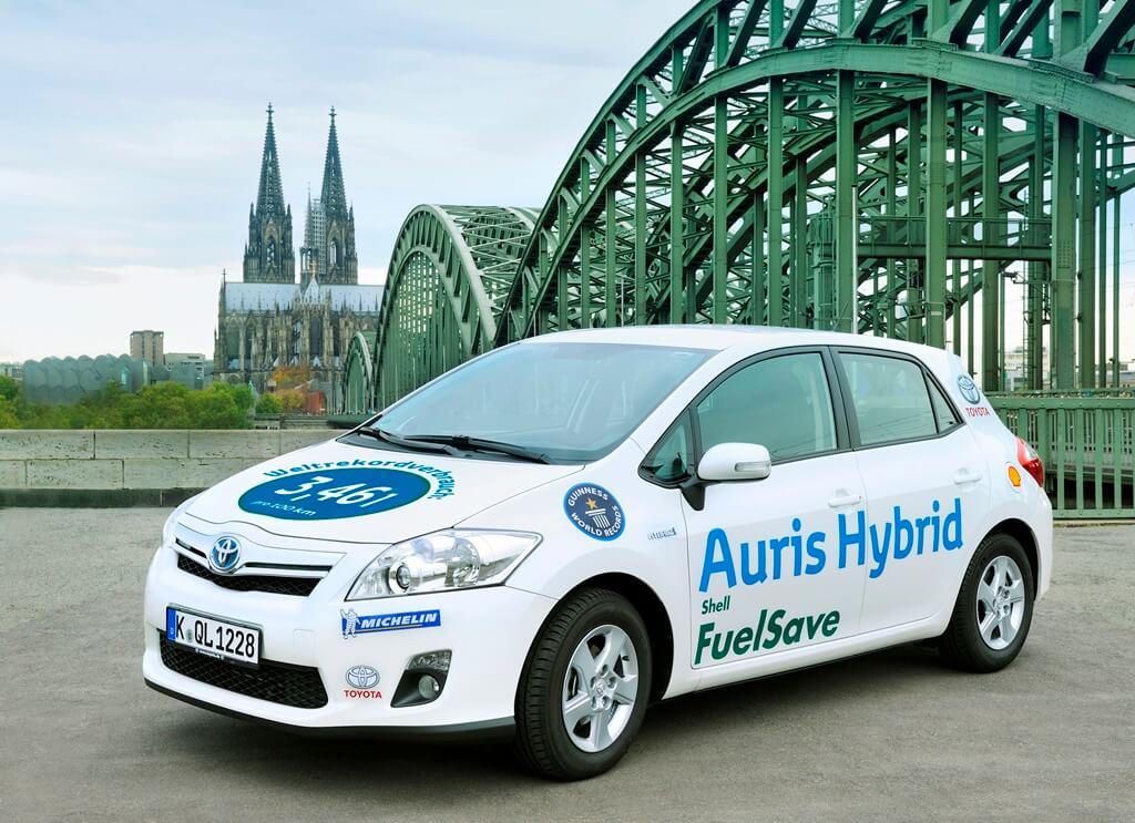Toyota Auris Hybrid Weltrekord 2010