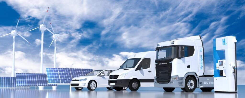 Wasserstoff Fahrzeuge mit Tankstelle
