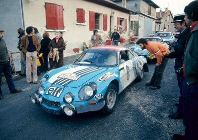 Alpine A110, Rallye, Rallye Monte Carlo, 1975