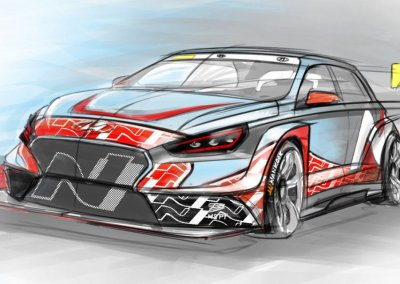 Designskizze Hyundai i30 N TCR