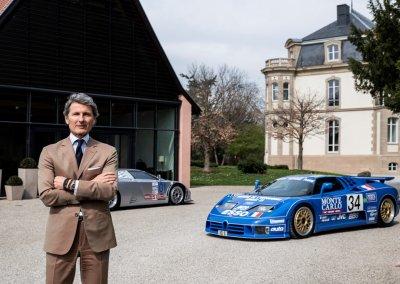 Bugatti EB110 model range. Chateau Jean Molsheim mit Stephan Winkelmann