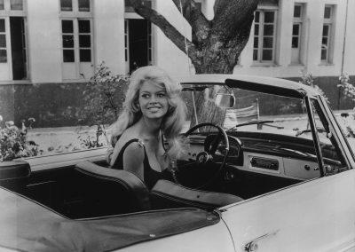 Renault Floride: Fotoproduktion mit Brigitte Bardot
